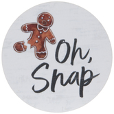 Oh Snap Gingerbread Man Magnet