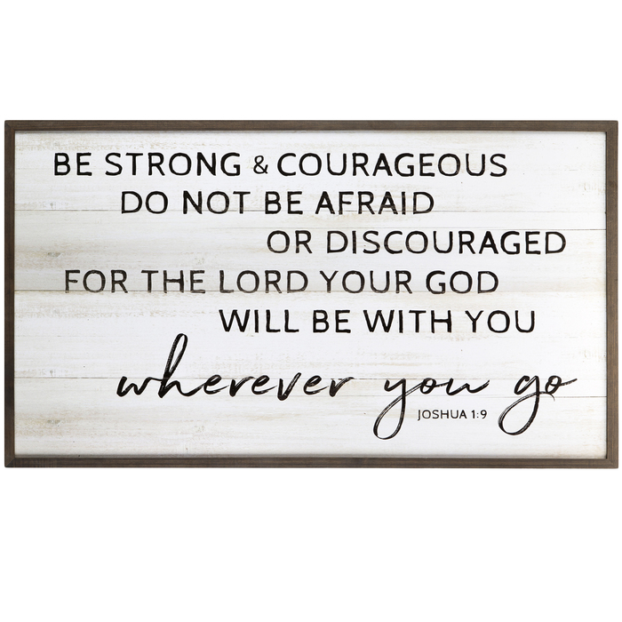 I Command You To Be Strong and Courageous Do Not Be Afraid Or Discouraged For The Lord Your God Is With Wherever You Go Wall Decal Sticker