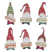 Merry Christmas Gnome Embellishments