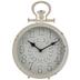 Distressed White Metal Clock
