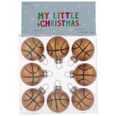 Mini Basketball Round Ornaments
