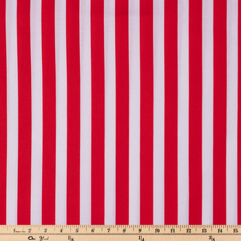 Red & White Striped Apparel Fabric