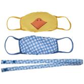 Plaid & Chick Kids Face Masks & Lanyard