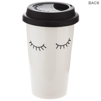 White Still Sleeping Cup With Lid