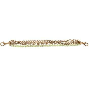 Faceted Bead Chain Connector Bracelet