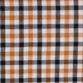 Tobacco Plaid Cotton Calico Fabric