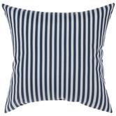 Navy & White Striped Pillow