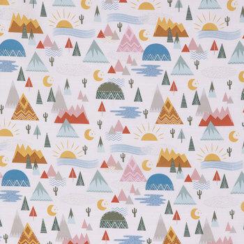 Boho Mountain Apparel Fabric