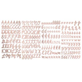 Rose Gold Foil Script Alphabet Stickers