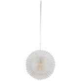 White Round Paper Fan