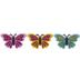 Glitter Butterfly Shank Buttons