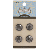 Scroll Round Shank Buttons - 16mm
