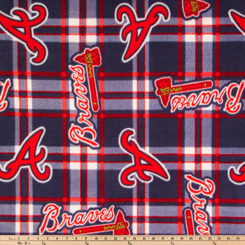 MLB Atlanta Braves Fleece Fabric