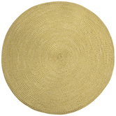 Gold Metallic Round Woven Placemat