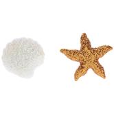 Shell & Starfish Glitter Shank Buttons