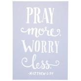 Matthew 6:34 Stencil