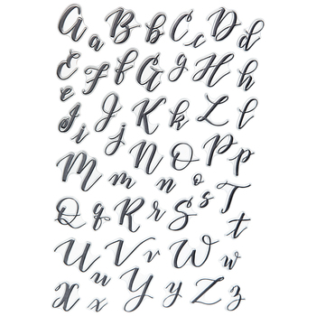 Calligraphy Letter Clear Stamps