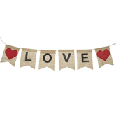 Natural Burlap Love Banner
