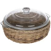 Dolly Parton Wicker Glass Casserole Dish