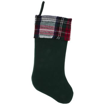 Stocking With Plaid Cuff