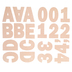 Pastel Peach Franklin Uppercase Alphabet Stickers