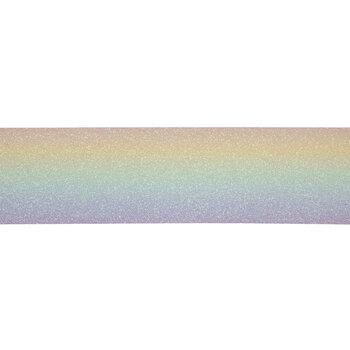 "Rainbow Glitter Canvas Ribbon - 2 1/2"""