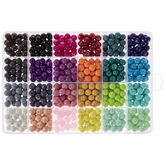 Assorted Round Coated Glass Beads - 8mm