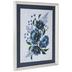Navy Flowers Framed Wall Decor