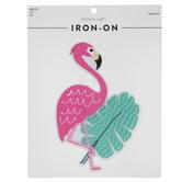 Flamingo & Leaf Iron-On Appliques