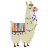 Llama Painted Wood Shape