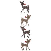 Rhinestone Reindeer Stickers
