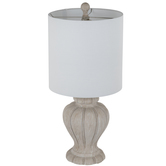 Whitewash Ribbed Lamp