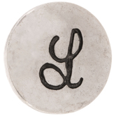 Hammered Alphabet Snap Charm