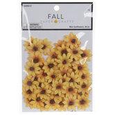 Yellow & Orange Mini Sunflower Embellishments