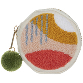 Pink & Yellow Abstract Coin Purse