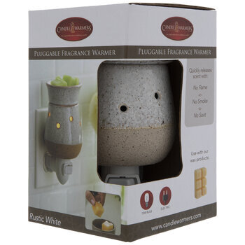 Rustic White Speckled Plug In Fragrance Warmer