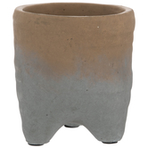 Brown & Gray Flower Pot With Legs