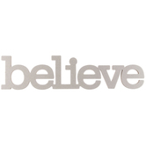 Believe Chipboard Decor