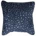Blue Leopard Print Velvet Pillow