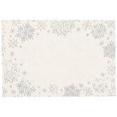Silver Snowflakes Gift Tag Stickers