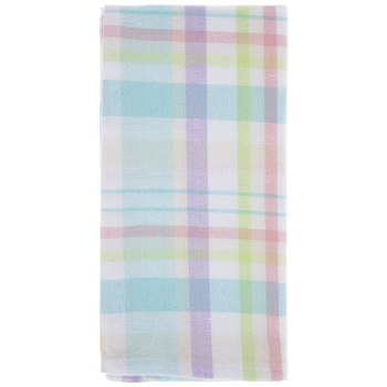 Pastel Plaid Cloth Napkins