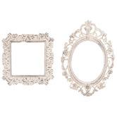 White Square & Oval Frame Embellishments