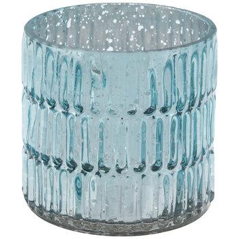 Turquoise Mercury Glass Candle Holder