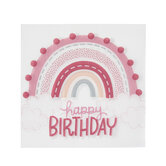 Pink Rainbow Party Napkins - Small