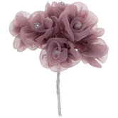 Mauve Organza Rose Pick