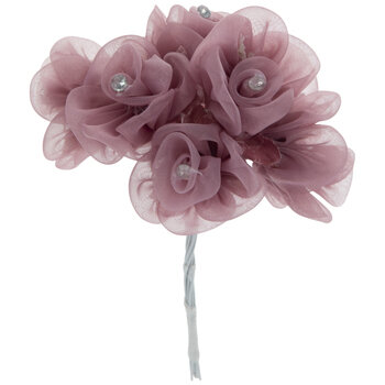 Mauve Organza Rose Pick