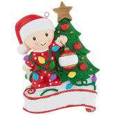 Child & Christmas Tree Personalized Ornament