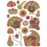 Thanksgiving Icons Puffy Stickers