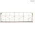 Gold Geometric Wire Metal Wall Shelf