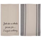 I Regret Nothing Kitchen Towels